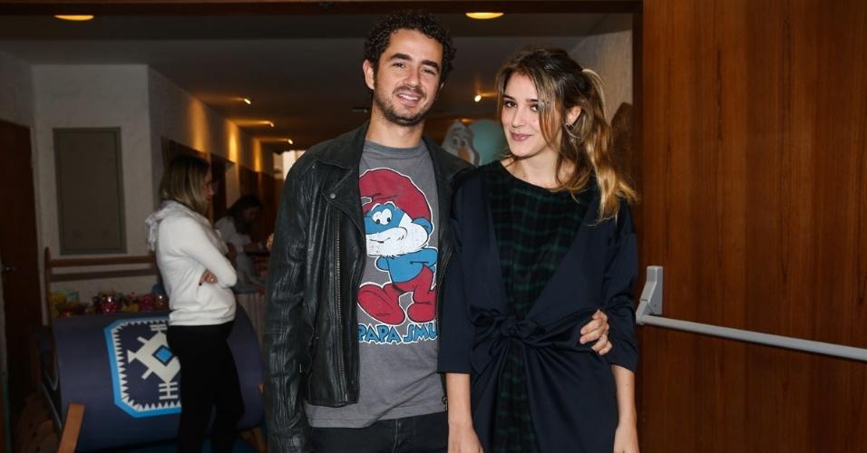 26.jul.2014 - Felipe Andreoli e a esposa Rafa Brites