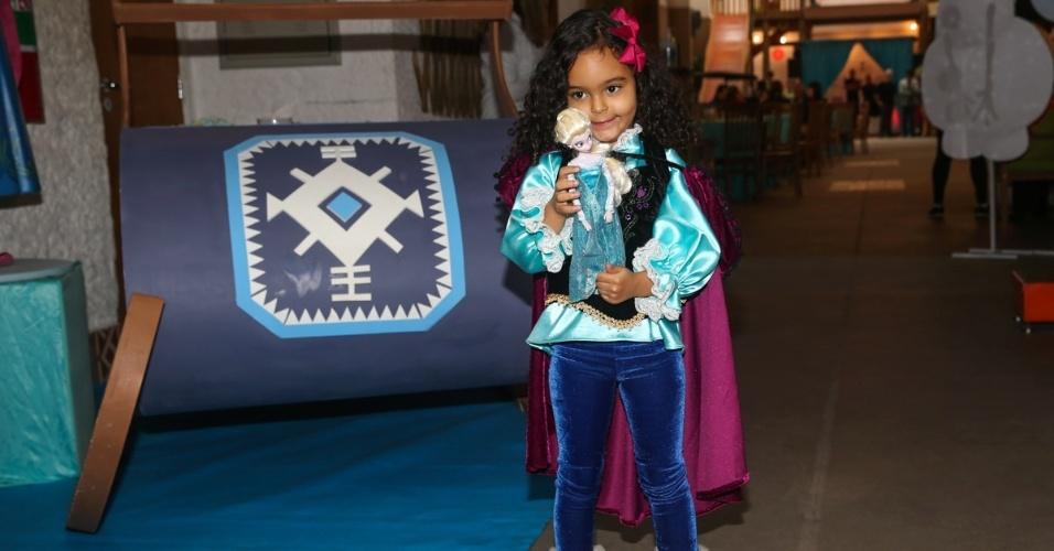 26.jul.2014 - Maria Eduarda, filha de Lucielle di Camargo e Denílson, em sua festa de quatro anos