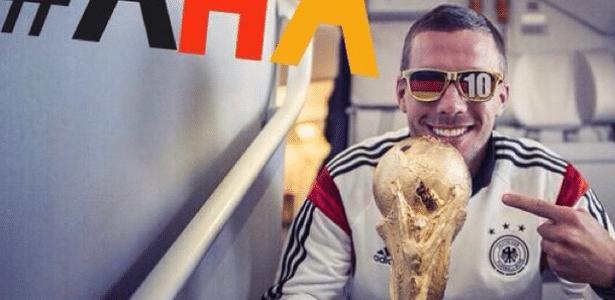 Podolski ganhou fãs no Brasil após interagir com os torcedores durante o Mundial de 2014