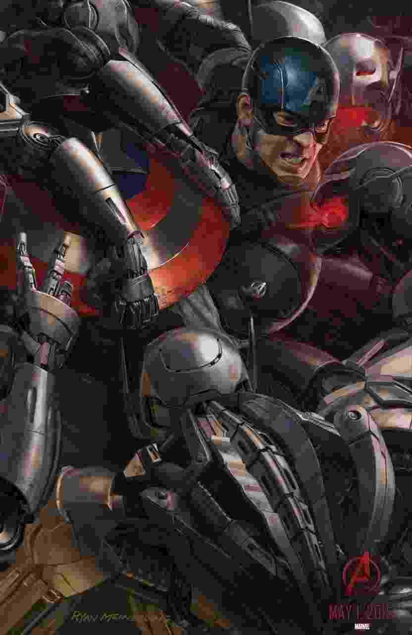 """O super soldado Capitão América aparece em pôster de """"Os Vingadores 2"""" na San Diego Comic-Con 2014 - Divulgação"""