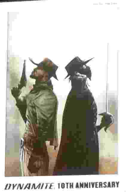 """27.jul.2014 - Foto da capa de HQ que mistura o universo de Zorro com o filme de Quentin Tarantino """"Django Livre"""". A capa da história crossover """"Django/Zorro"""" foi divulgada em painel com o Tarantino na San Diego Comic-Con - Natália Engler/UOL"""