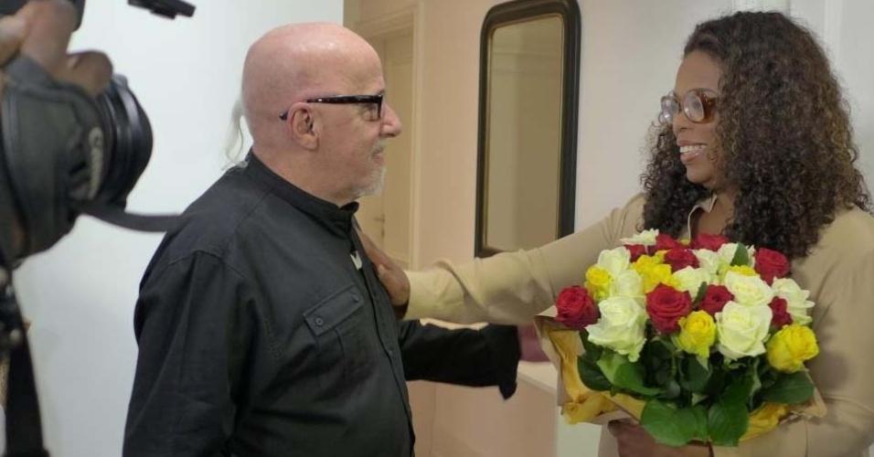 Paulo Coelho com Oprah Winfrey