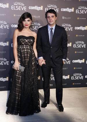 Vanessa e o marido, Giuseppe Dioguardi, prestigiaram 16ª edição do Prêmio Contigo! de TV no final de julho