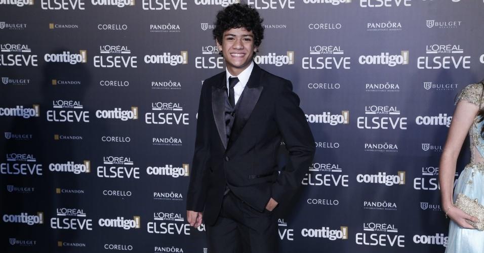 """28.jul.2014 - O ator Gabriel Santana prestigou a 16ª edição do Prêmio Contigo! de TV, realizado no hotel Copacabana Palace, no Rio. Ele concorreu ao troféu de melhor ator infantil por """"Chiquititas"""""""