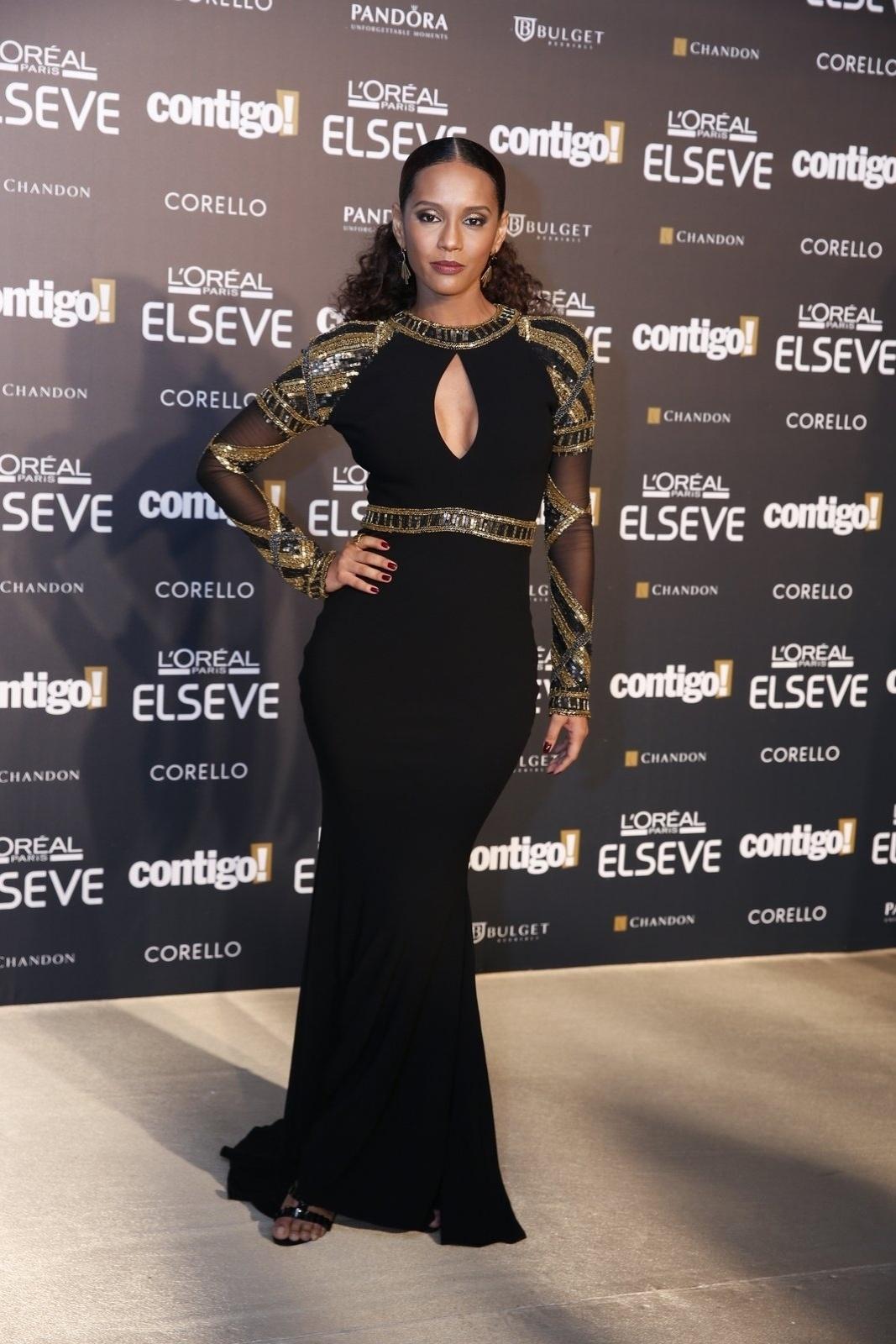 28.jul.2014 - A atriz Taís Araújo prestigou a 16ª edição do Prêmio Contigo! de TV, realizado no hotel Copacabana Palace, no Rio