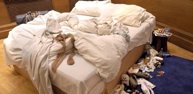 """A instalação """"My Bed"""", da artista britânica Tracey Amin, que voltará a ser exibida em Londres - Nils Jorgensen/Rex F"""