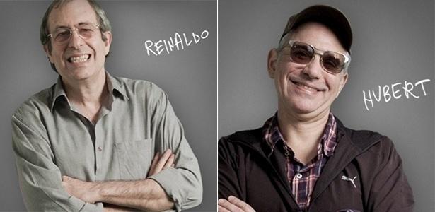 """Reinaldo e Hubert, humoristas do extinto programa de TV """"Casseta & Planeta"""" - Montagem UOL/Divulgação"""