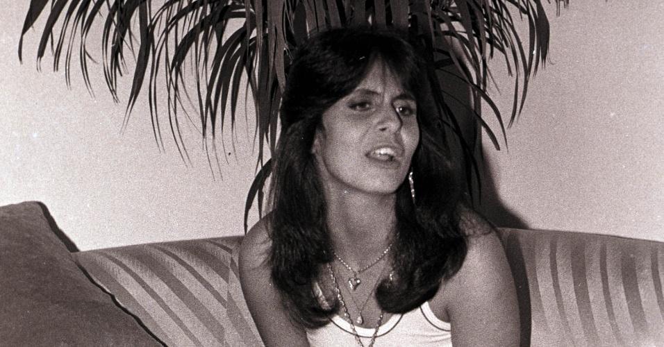 02.ago.1983- Maria Odete Brito de Miranda escolheu o nome artístico Gretchen depois de vê-lo no cartaz de um filme, que se chamava
