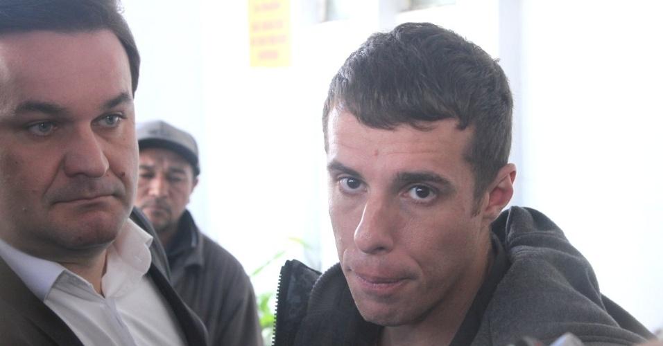 """31.jul.2014 - Marco Antônio, integrante do """"Hermes e Renato"""" comenta  a morte do humorista Fausto Fanti"""