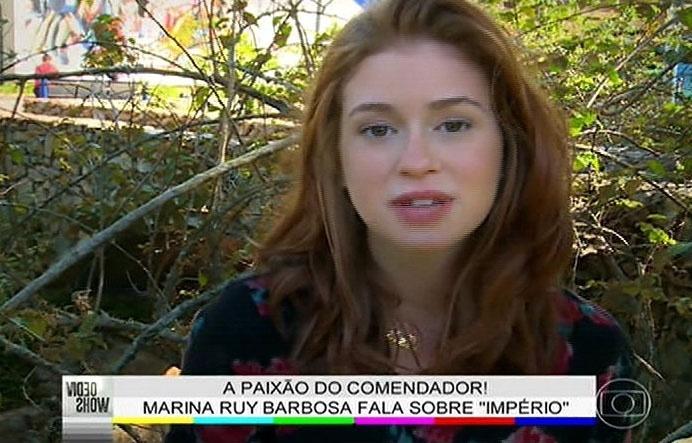 31.jul.2014 - Marina Ruy Barbosa fala sobre a sua personagem em