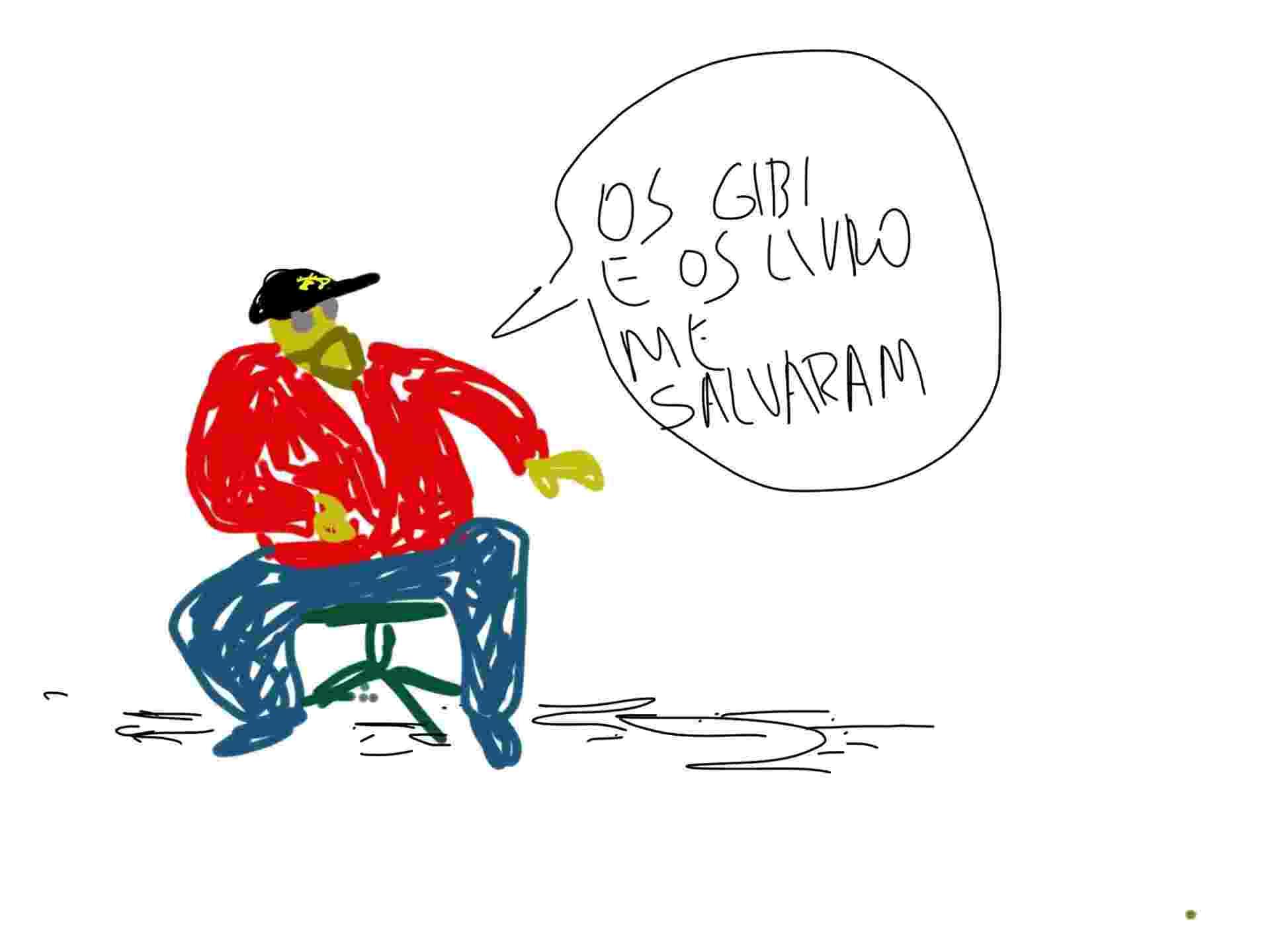 """31.jul.2014 - O escritor paulistano Reginaldo Ferreira da Silva, mais conhecido como Ferréz, deu a letra na Casa de Cultura durante a Flip: """"Os gibis e os livro (sic) me salvaram"""" - Orlando"""