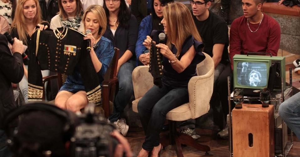 31.jul.2014 - Bianca Rinaldi relembra seus tempos de paquita e mostra como era seu figurino nas gravações do