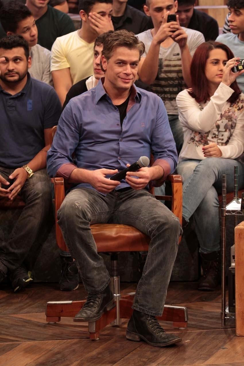 31.jul.2014 - O ator Fabio Assunção participa das gravações do