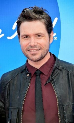 "16.mai,2013 - O cantor Michael Johns, participante da sétima temporada do reality show ""American Idol"""