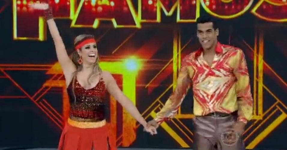 """3.ago.2014 - Famosos dançam ao som do """"Baladão Anos 70"""" na """"Dança dos Famosos""""; Marcello Melo dança ao ritmo de """"Celebration"""", de Kool & The Gang"""