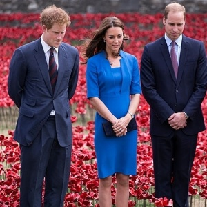 Kate Middleton, Príncipe William e Príncipe Harry