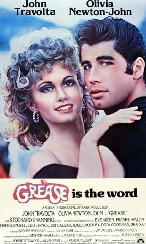 "Cartaz do filme ""Grease"""