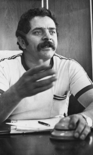 O sindicalista Lula (Luiz Inácio da Silva) em 13 de maio de 1978