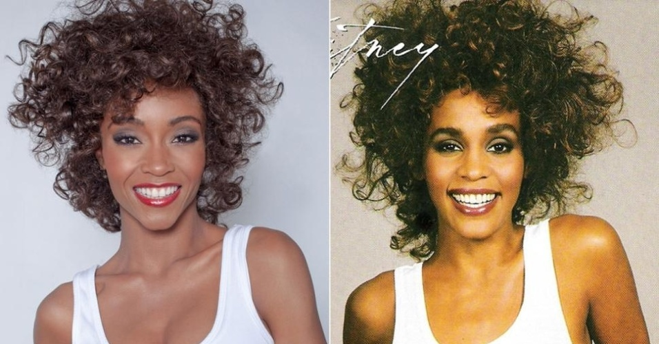 Yaya DaCosta posa como Whitney Houston na capa do disco
