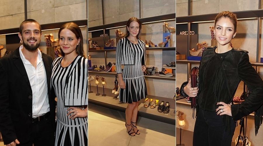 6.ago.2014 - Leandra Leal participou do coquetel de lançamento da novea coleção de uma marca de calçados femininos do qual é garota propaganda. Rafael Cardoso e Carol Celico prestigiaram o evento