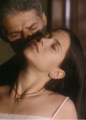 "Mel Lisboa e José Mayer em cena de ""Presença de Anita"", de 2001"