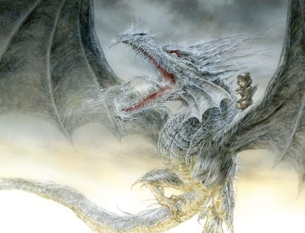 """Arte de Luis Royo para o livro """"Dragão de Gelo"""", de George R.R. Martin - Reprodução"""