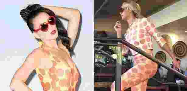 À esquerda, Katy Perry na foto de divulgação de sua nova música. À direita, Beyoncé veste conjunto criado pela modelo Kiko Mizuhara, parte de uma coleção-cápsula em parceria com a marca Open Ceremony - Reprodução/Instagram/@katyperry/@i_am_kiko