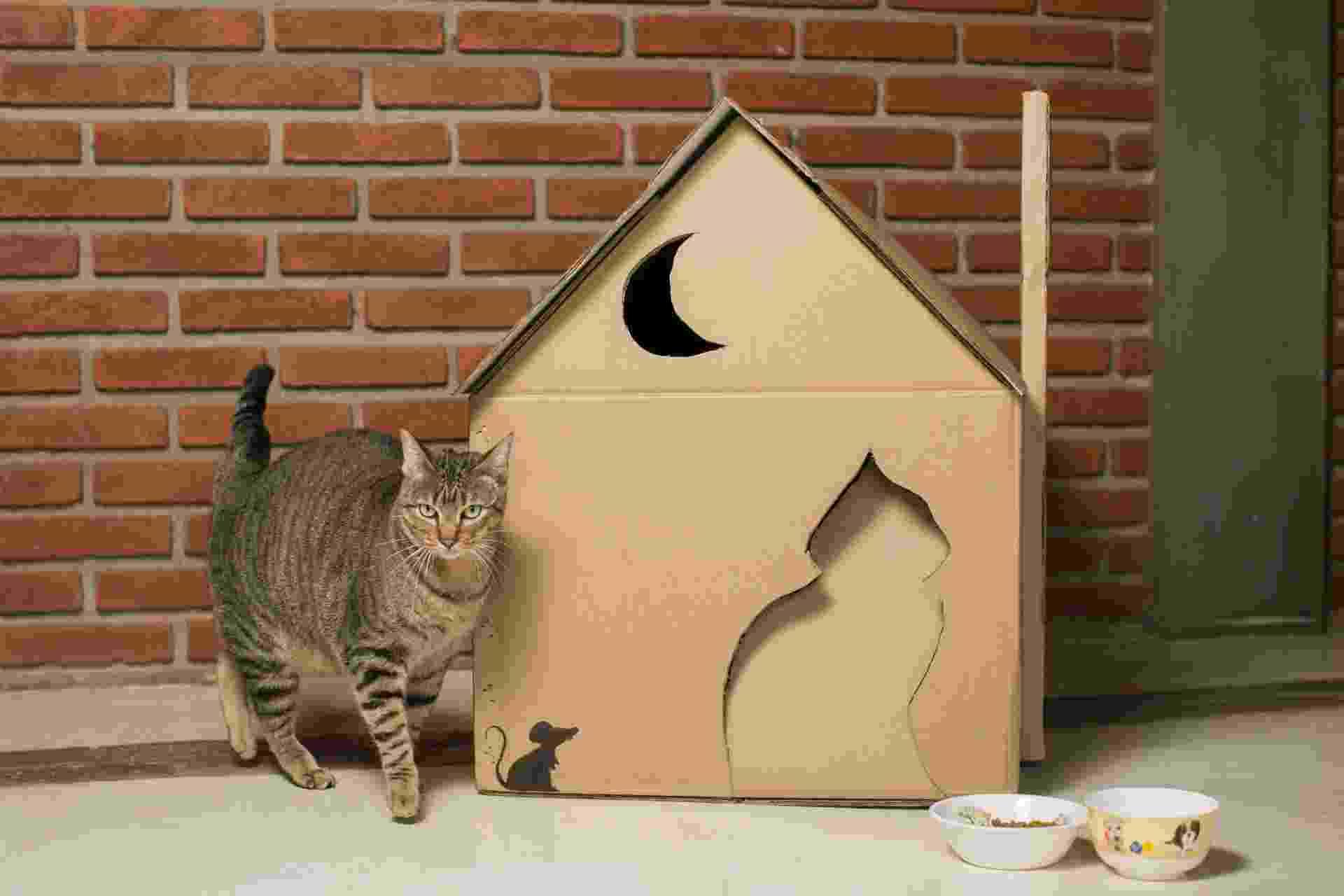 passo a passo - casinha de gato - Leonardo Soares/ UOL