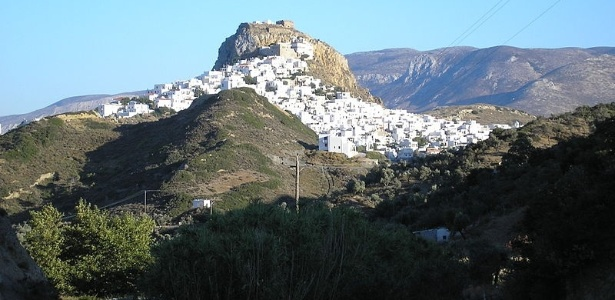 Os vilarejos característicos preservam a identidade local em Skyros