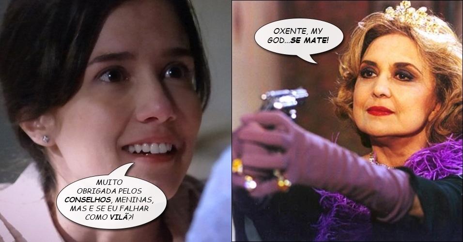 """7.ago.2014 - Altiva (Eva Wilma), de """"A Indomada, dá seu conselho final para Cora, a vilã de """"Império"""""""