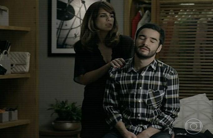 7.ago.2014 - Maria Ribeiro atua ao lado de marido, Caio Blat, na novela