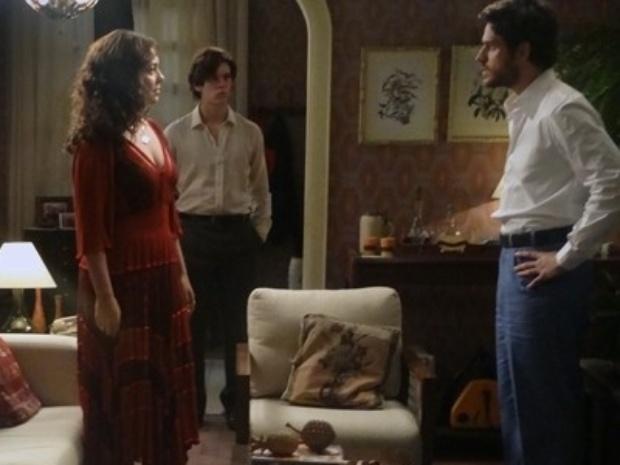 7.ago.2014 - Rafael enfrenta tia e decide não se noivar com Sandra