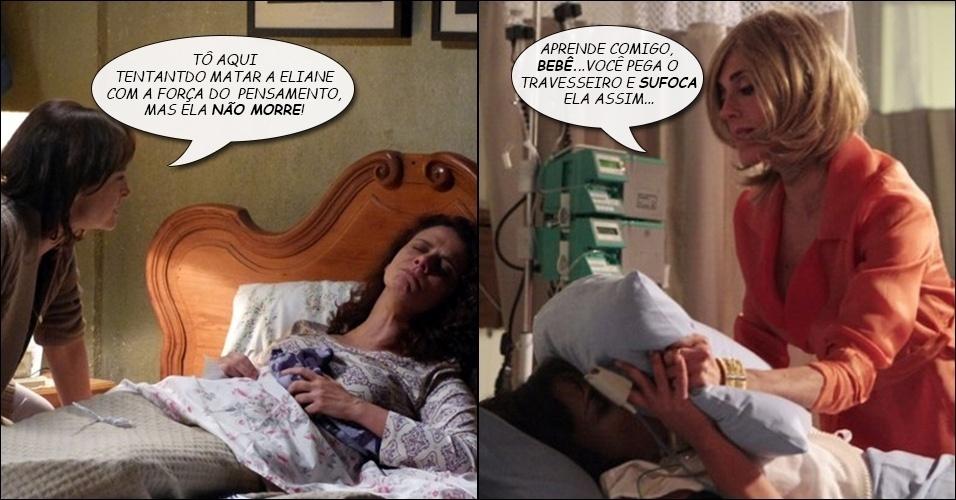 """7.ago,2014 - Tereza Cristina, de """"Fina Estampa"""", aconselha Cora (Drica Moraes) a matar a irmã"""
