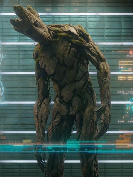 """O personagem """"Groot"""", de """"Guardiões da Galáxia - Reprodução"""