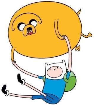 """Em """"Hora de Aventura"""", o cão Jake, que adquire qualquer forma, é o melhor amigo do menino Finn, de 12 anos"""