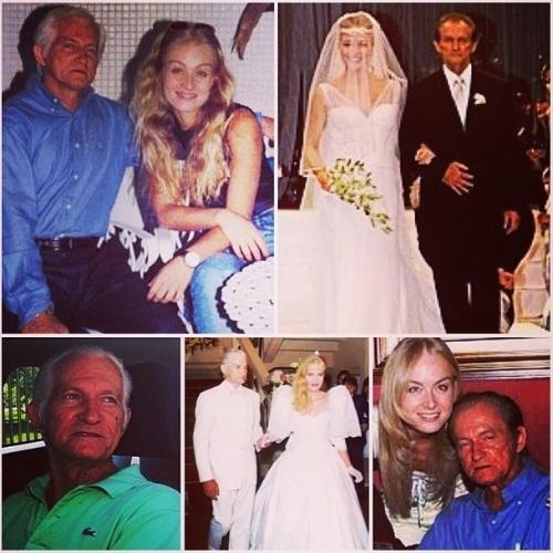 """10.ago.2014 - A apresentador Angélica faz uma homenagem ao seu pai no Instagram e diz """"Viva viva meu pai heroi ! Viva viva o papai dos meus filhos @lucianohuck!"""""""