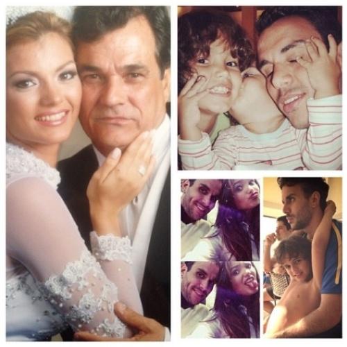 """10.ago.2014 - A cantora Kelly Key fez uma homenagem ao seu pai e ao pai de seus filhos, Mico Freitas, postando uma montagem de fotos e um texto no Instagram. """"Então, Deus me deu voce, @micofreitas Aprendeu a lição direitinho! E da aos meus filhos tudo o que eu sempre tive do meu pai! Obrigada por vocês dois fazerem parte da minha história! Vocês são muito importantes para mim! #FelizDiaDosPais #PaiHeroi"""", escreveu a cantora"""