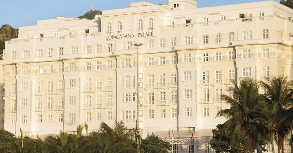 """Copacabana Palace, no Rio de Janeiro. O hotel foi eleito o melhor do Brasil pelo World Travel Awards, o """"Oscar do Turismo"""""""
