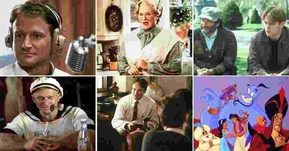 Capa do álbum dos 10 filmes para lembrar Robin Williams - Montagem UOL/Divulgação