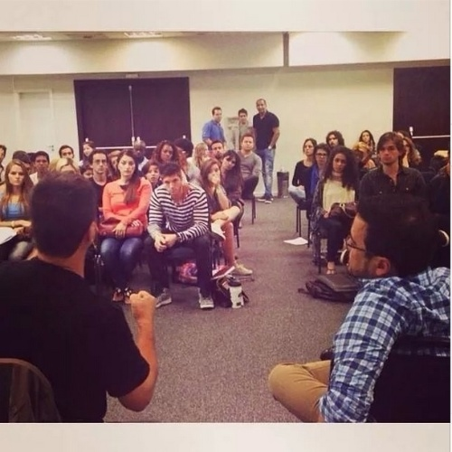 "Elenco de ""Alto Astral"" participa de workshop de dramaturgia com Daniel Ortiz e Maricelo Zambelli"