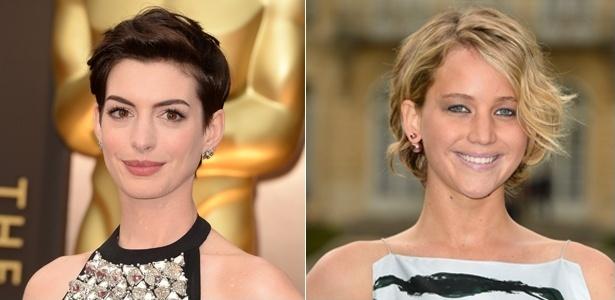 Anne Hathaway e Jennifer Lawrence apostaram no curto e agora criam maneira estilosas para esperarem os fios crescerem - Getty Images