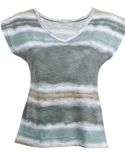 Camiseta em malha tie dye, da Pernambucanas. Preço  R  29,90 9364806261