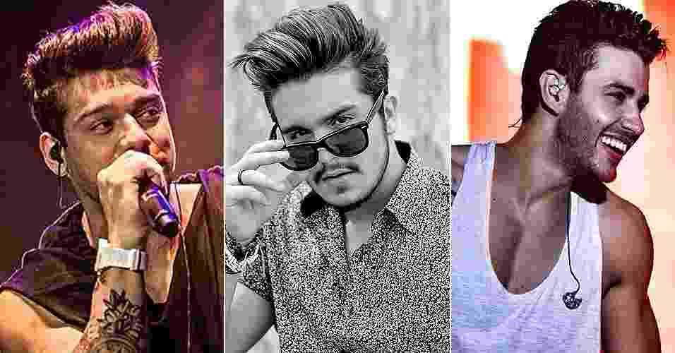 Lucas Lucco, Luan Santana e Gusttavo Lima exibem - Reprodução/Instagram