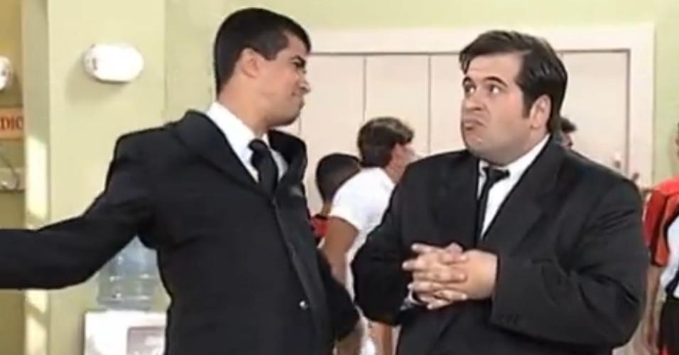 """Marcius Melhem e Leandro Hassum eram Pedrão e Jorginho no """"Zorra Total"""" (2005)"""