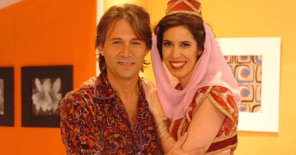 """Maria Clara Gueiros e Nelson Freitas no """"Zorra Total"""" de 2006"""