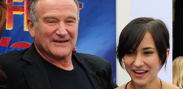 "Robin Williams e a filha Zelda na estreia de ""Happy Feet 2"""
