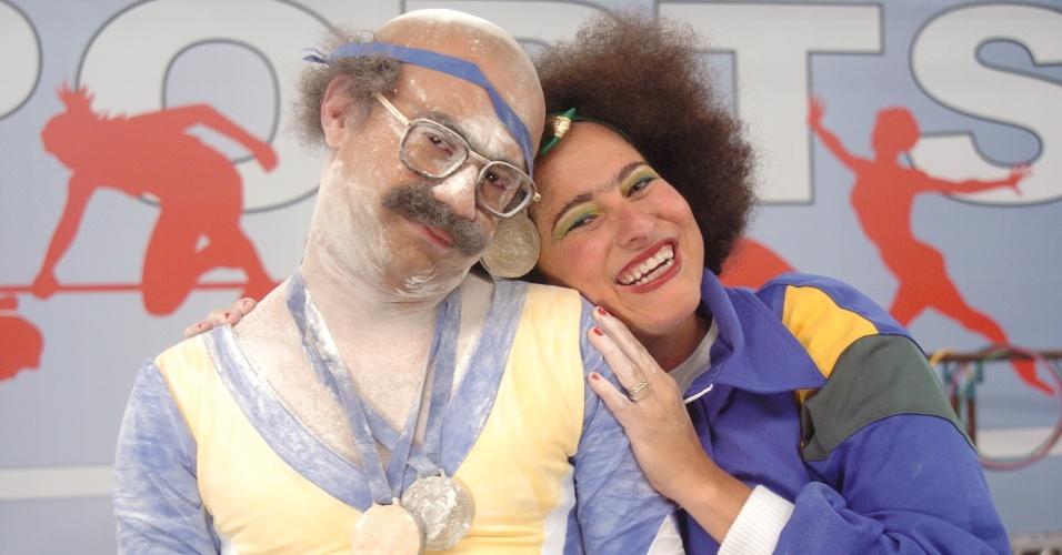 "Welder Rodrigues e Adriana Nunes no ""Zorra Total"" de 2006"