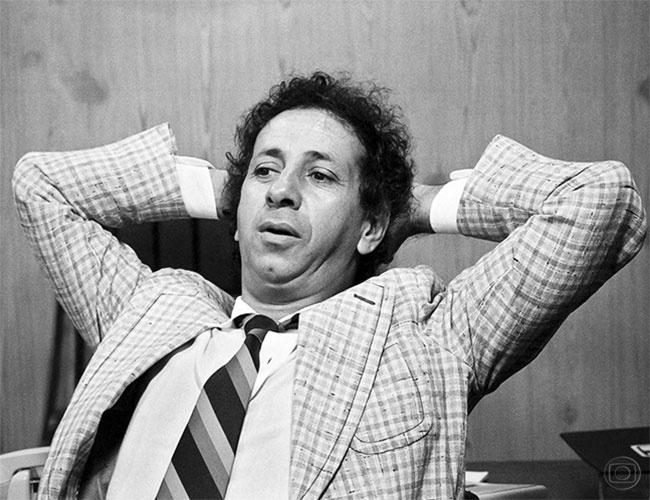 """Flávio Migliaccio na primeira versão de """"O Astro"""", que foi ao ar em 1977"""