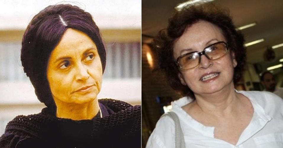 """Joana Fomm interpretou Perpétua, a falsa beata e irmã mais velha de Tieta (Betty Faria). Fez a novela """"As Pupilas do Senhor Reitor"""" (1994), no SBT, e novelas de destaque da Globo, como """"Vamp"""" (1991), """"Roda de Fogo"""" (1986) e """"Porto dos Milagres"""" (2001). Sua última participação na TV foi em """"As Cariocas"""" (2010), no episódio """"A Desinibida do Grajaú"""""""