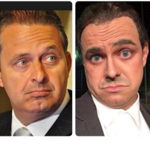 Marvio Lucio mostra imagem caracterizado de Eduardo Campos